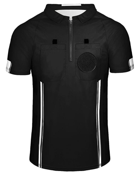 Black Soccer Referee Shirt