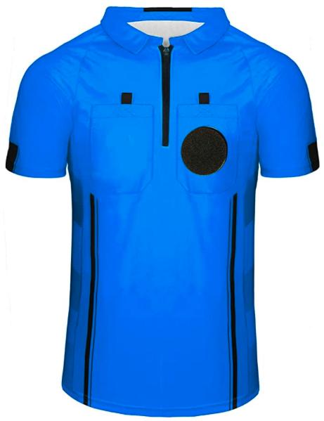 Blue Soccer Referee Shirt