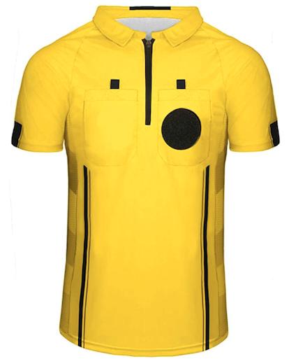 Yellow Soccer Referee Shirt