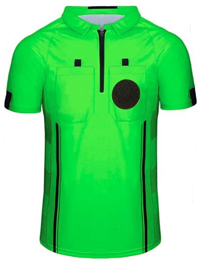 Green Soccer Referee Shirt