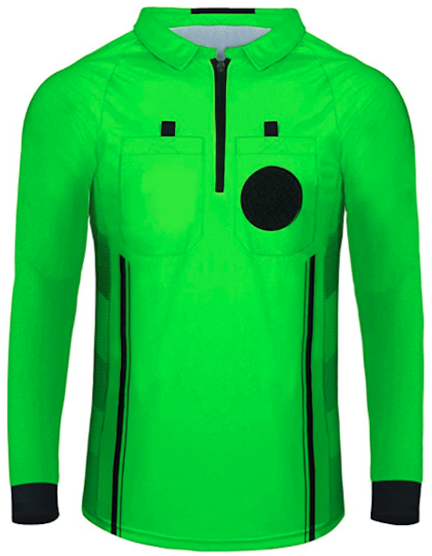 Green Long Sleeve Soccer Referee Shirt
